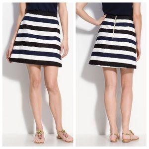 Kate Spade Delphina A Line Stripe Short Skirt 6